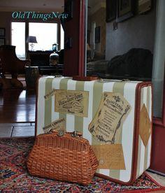 cherished treasures tuesday treasure vintage suitcases mod podge pinterest valises. Black Bedroom Furniture Sets. Home Design Ideas