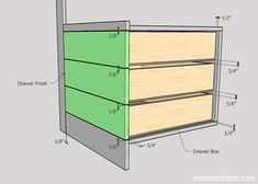 The most comprehensive and easiest tutorial for building drawers! #sawsonskates Kitchen Cabinets Drawing, Diy Cabinets, Diy Drawers, Cabinet Drawers, Woodworking Projects Diy, Diy Wood Projects, Building Drawers, Firewood Storage, Wood Creations