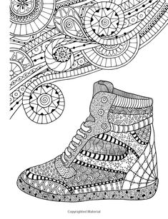 AmazonSmile: ZenThoughts Coloring Book: Stress Melting Shoe Designs (Volume 3)…