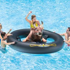 Fancy | Inflat-A-Bull Pool Toy