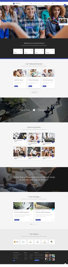 Lincoln | Educational #Material Design PSD Theme - PSD #Templates | #ThemeForest