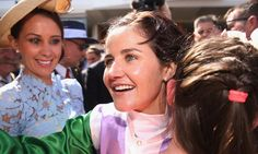 The attacked 'chauvinistic' male owners who 'don't think women are good enough' as she made history as the first winning female jockey Suffragette Colours, Flemington Racecourse, Down Syndrome People, Melbourne Cup, The Guardian, Feminism, Victorious, Beats, Tuesday