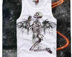 NEONBLACK T SHIRT Praying Skeleton Skull Paris Eleven