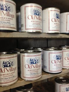 """Old Village Paints """"The Tradition Lives On"""" - lwemporium.com"""