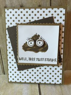 Emoji Card made with Sweet Cupcake and Here For You Stampin' Up! stamp sets by Amanda Waldhart.