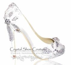 Camila Various heel heights available Open or closed toe  www.crystalshoecouture.com