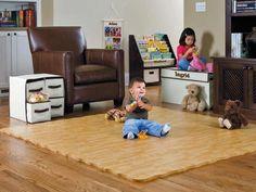 Hardwood Look Natural Foam Puzzle Mat, Foam Floor Mat, Play Mat Soft Tiles, Baby Play Areas, Doors And Floors, Puzzle Mat, Hardwood Tile, Vinyl Flooring, Flooring Ideas, Playroom Flooring, Tile Flooring