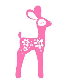 Take a look at this Pink Bambi Wall Sticker by PaaPii Design on #zulily today!