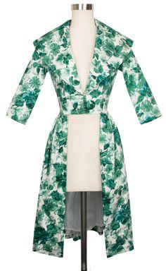 Trashy Diva Kelly Cutaway Coat Dress | Vintage-Inspired Coat Dress | Jade Watercolor