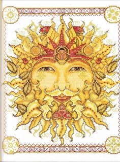 father sun cross stitch
