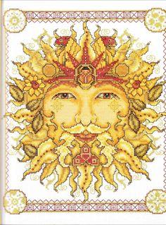father sun cross stitch