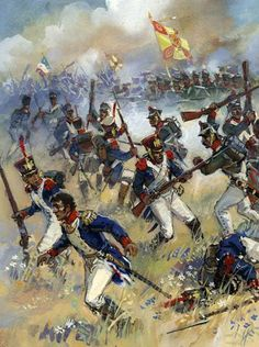 Russian troops break the French line at Borodino 1812