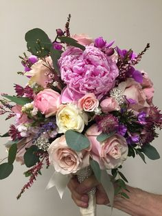 Pink wedding bouquet Graham & Lane Florists Diy Wedding Bouquet, Wedding Flowers, Wedding Dresses, Bridal Bouquets, Blooming Flowers, Florists, Floral Arrangements, Beautiful Flowers, Graham