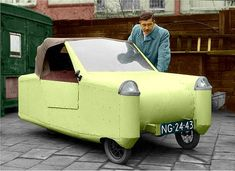 Twitter Funny Looking Cars, Automobile, Microcar, Reverse Trike, Miniature Cars, Car Museum, Cute Cars, Funny Cars, Weird Cars