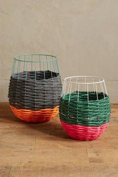 Sunken Neon Basket Planter #anthrofave