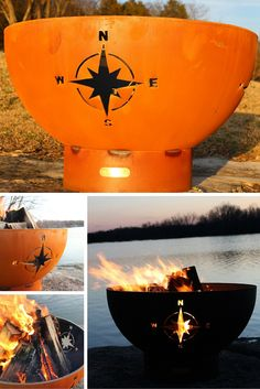 The Navigator Outdoor Fire Pit is a high quality, hand cut and crafted fire pit designed for years of heavy use. This is one of the most unique fire pits on the market.