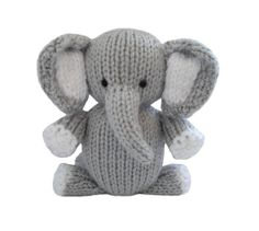 Elefant zum Stricken Muster – Easy Elephant Knitting Pattern - Knitting and Crochet Baby Knitting Patterns, Crochet Patterns, Knitted Toys Patterns, Scarf Patterns, Quilting Patterns, Dress Patterns, Knitted Stuffed Animals, Knitted Animals, Easy Knitting