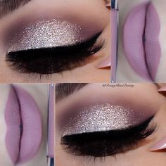 glitter eyes & pink mauve lips ✨✨ @litcosmetics Hello sunshine glitter ✨✨ @morphebrushes 35N palette ✨✨ @rccosmetics liquid liner ✨✨ @colourpopcosmetics Beeper liquid lipstick ✨✨