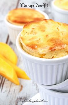 Mango Soufflé. Try this heavenly light and easy to prepare dessert. Its only ingredients are cream cheese, eggs, sugar and a mango. Find the recipe here: http://www.myblueberrybasket.com/en/mango-souffle/