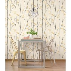 Brewster Home Fashions Ingrid Scandi Tree Wallpaper - 396 Scandi Wallpaper, Scandinavian Wallpaper, Cream Wallpaper, Chic Wallpaper, Botanical Wallpaper, Wallpaper Roll, Wall Wallpaper, Scandinavian Style, Design Repeats