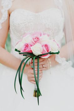 Rose and Grass Bridal Bouquet | FiftyFlowers https://www.theknot.com/marketplace/fiftyflowers-boise-id-514480 | Julli Anna Photography