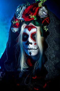Sugar Skull Widow by Elena-NeriumOleander.deviantart.com on @deviantART