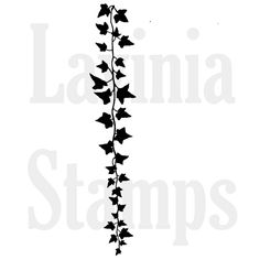 Flower Stamp, Falling Ivy, Lavinia Stamps, Acrylic Stamp by InkArtDesigns on Etsy Ivy Tattoo, Vine Tattoos, Neck Tattoos, Tattoo Arm, Tatoos, Lavinia Stamps Cards, Tampons Transparents, Resin Uses, Scrapbooking