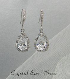 Crystal Bridal Earrings Crystal wedding earrings by CrystalAvenues, $60.00