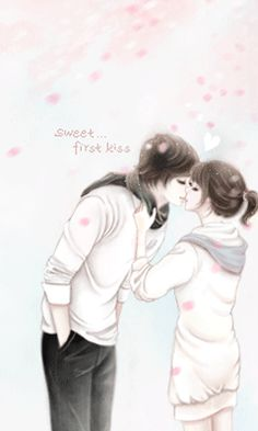 Cartoon Korean Couple