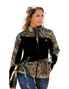 Brought to you by Avarsha.com: <div><div>Womens Cinch Jacket: Womens Cinch Outerwear. Heading to the woods, cowgirl! This womens bonded hybrid jacket from Cinch's Outdoor collection features a camo print with black inserts, a zip front, zip front pockets and embroidered Cinch logos. MUJ3002001</div><div>Cinch</div></div>