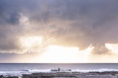 The playground - sun peaking through on a stormy morning. Surf and Ocean art