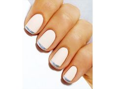 @Margaret Cho Byrd Beauty - Metallic French    Update your French manicure by subbing in a metallic polish instead of your classic white.