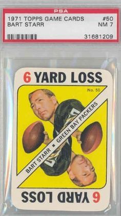 1971 Topps Football Game 50 Bart Starr Packers PSA 7 Near-Mint by Topps. $16.00. This vintage card featuring Bart Starr is # 50 from the 1971 Topps Football Game set