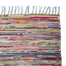 Fillerye MULTI. 70x150cm. Vevd teppe av resirkulert tekstil.