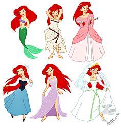 "Walt Disney Fan Art of Princess Ariel from ""The Little Mermaid"" 33261911 Disney Pixar, Ariel Disney, Walt Disney Characters, Disney Fan Art, Disney Girls, Disney And Dreamworks, Baby Disney, Little Mermaid Costumes, Mermaid Tattoos"