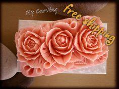Carving soap roses, Thai carving soap, bath soap decoration, art soap carving…