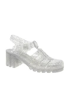 5639fe275cf6 Juju Babe Glitter Heeled Jelly Sandals at asos.com