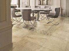 Fabulous Flooring Ideas: Wood, Carpets And… Black Marble Dining Room Tiles Dining Room Tiles For The Floors in [keyword Diy Design, Bathroom Barn Door, Neoclassical Interior, Victorian Style Homes, Ceramic Floor Tiles, Room Tiles, Flooring Options, Flooring Ideas, Stone Flooring
