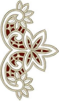 Advanced Embroidery Designs - Floral Lace Corner