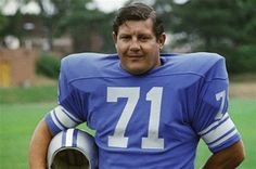 Alex Karras (in 1971) was a All-Pro as a defensive end for the Detroit Lions. AND former Iowa Hawkeye