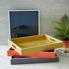 West Elm offers modern furniture and home decor featuring inspiring designs and colors. Create a stylish space with home accessories from West Elm. West Elm, Casa Atrium, Mirrored Serving Tray, Serving Trays, Tabletop, White Rims, Dark Interiors, Interior Plants, Wood
