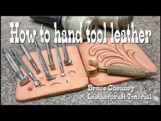 Leather tooling basics tutorial for beginners with Craftools select leathercraft tools. Learn to tool and carve leather with this video tutorial here on YouT. Leather Stamps, Leather Art, Sewing Leather, Leather Gifts, Leather Tooling, Leather Jewelry, Tooled Leather, Custom Leather, Leather Design