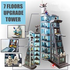 Discount Up to New Upgraded Version SuperHeroes ironman marvel Avenger Tower fit legoings Avengers gift Building Block Bricks boy kid gift Toy Lego Moc, Lego Chima, Marvel Heroes, Marvel Avengers, Captain Marvel, Lego Blocks, Model Building, Infinity War, Lego Sets