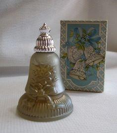 Vintage 70s Avon Joyous Bell Topaze Cologne Decanter Bottle w Box Perfume