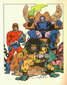 Orion, Kalibak & Darkseid by Walt Simonson Book Cover Art, Comic Book Covers, Comic Books Art, Book Art, Dc Comics Art, Marvel Comics, Marvel Villains, Comic Character, Character Design
