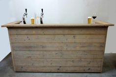 Huisbar en #tuinbar van #steigerplanken om zelf te maken.