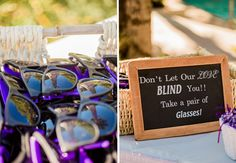 """Don't let our love blind you!! Take a pair of glasses"" 