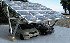 This is great for electric cars and provides shade as well.
