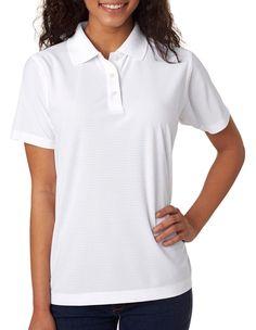 Ultraclub Women's Performance Box Short Sleeve Polyester Polo Shirt. 8250L