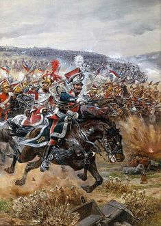 The Battle of Leipzig - At this battle, Emperor Napoleon Bonaparte lost a major battle against the Sixth Coalition led by Czar Alexander I. This was after his failed invasion of Russia. Military Art, Military History, Military Uniforms, French Pictures, Poland History, Seven Years' War, French Army, Historical Art, Napoleonic Wars